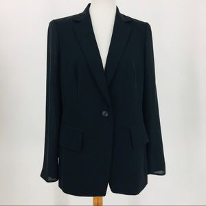 NWT Black Sheer Back/Sleeves Jacket Lafayette 148